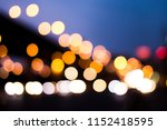 lights or bokeh from car in the ... | Shutterstock . vector #1152418595