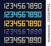 set 5 geometric font line... | Shutterstock .eps vector #1152419912