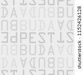 budapest  hungary seamless... | Shutterstock .eps vector #1152426128
