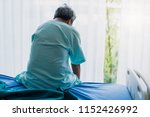 old asian senior man complains... | Shutterstock . vector #1152426992