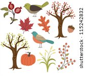 autumn vector images | Shutterstock .eps vector #115242832