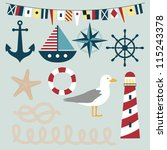 nautical vector images | Shutterstock .eps vector #115243378
