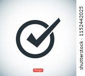 confirm icon  stock vector... | Shutterstock .eps vector #1152442025
