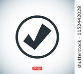 confirm icon  stock vector... | Shutterstock .eps vector #1152442028