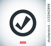 confirm icons  stock vector... | Shutterstock .eps vector #1152442898