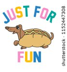 cute hotdog vector design | Shutterstock .eps vector #1152447308