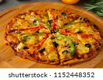 italian pizza with rustic... | Shutterstock . vector #1152448352