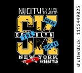 skateboard typography t shirt... | Shutterstock .eps vector #1152449825
