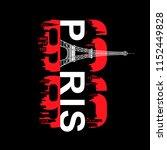paris typography t shirt design ...   Shutterstock .eps vector #1152449828