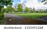 a non descript public park and... | Shutterstock . vector #1152451268