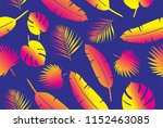 floral   flowers and leaves in... | Shutterstock . vector #1152463085