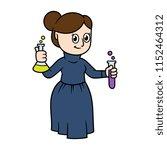 cartoon female victorian... | Shutterstock .eps vector #1152464312