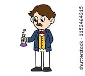 cartoon male victorian scientist | Shutterstock .eps vector #1152464315