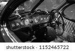 interior of an antique car ...