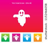 ghost icon in colored square... | Shutterstock .eps vector #1152466058