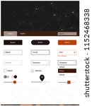 dark red vector web ui kit in...