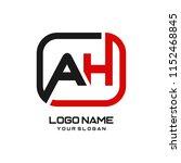 ah initial box letter logo... | Shutterstock .eps vector #1152468845
