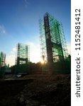 steel bridge construction with... | Shutterstock . vector #1152481412