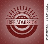 free admission vintage red... | Shutterstock .eps vector #1152483662