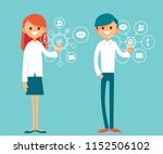 virtual touch screen. digital... | Shutterstock .eps vector #1152506102
