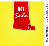 hot sale promotion   paper art... | Shutterstock . vector #1152507758