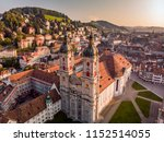 beautiful aerial view of st.... | Shutterstock . vector #1152514055