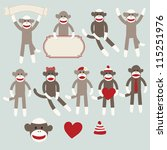 Vector sock monkeys