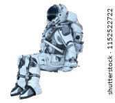 astronaut on white. mixed media | Shutterstock . vector #1152522722