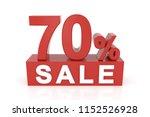 seventy percent sale. 3d... | Shutterstock . vector #1152526928