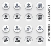 users web icons on white... | Shutterstock .eps vector #115252975