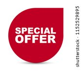red vector banner special offer | Shutterstock .eps vector #1152529895