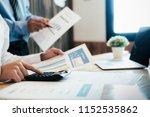 young startups businessmen... | Shutterstock . vector #1152535862