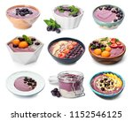 set with delicious acai... | Shutterstock . vector #1152546125