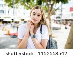 cclose up portrait of lovely... | Shutterstock . vector #1152558542