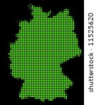 map of germany with green dots | Shutterstock . vector #11525620