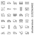thin line vector icon set  ...   Shutterstock .eps vector #1152563402