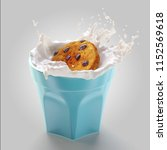 3d render of tasty cookie with... | Shutterstock . vector #1152569618