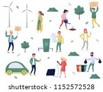 eco friendly people set  man... | Shutterstock .eps vector #1152572528