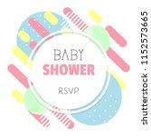 modern abstract baby shower... | Shutterstock .eps vector #1152573665