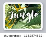 dark vector tropical design for ... | Shutterstock .eps vector #1152574532