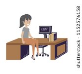 cartoon businesswoman design | Shutterstock .eps vector #1152576158