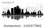 surabaya indonesia city skyline ... | Shutterstock . vector #1152577802