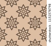 dark brown floral ornament on... | Shutterstock .eps vector #1152578798