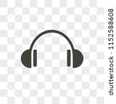 headphones vector icon isolated ... | Shutterstock .eps vector #1152588608