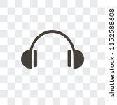 headphones vector icon isolated ... | Shutterstock .eps vector #1152588608