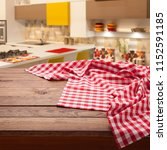 red checkered tablecloth on... | Shutterstock . vector #1152591185