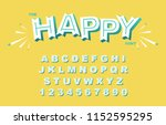 vector of stylized vintage font ... | Shutterstock .eps vector #1152595295