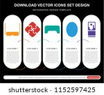 5 vector icons such as 3d... | Shutterstock .eps vector #1152597425