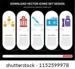 5 vector icons such as... | Shutterstock .eps vector #1152599978