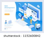 web design and development... | Shutterstock .eps vector #1152600842